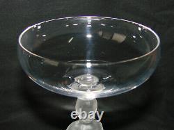 Ancien verre cristal Bayel x 6 Manneken Pis Coupes Royales de Champagne