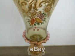 Ancien verre émaillé à vin en Murano Venise Salviati old glass venitian
