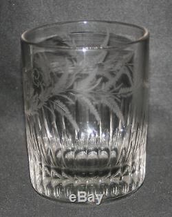 Ancien verre normand de mariage verre soufflé gravé XIX ème