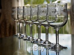 ancienne 11 verres a vin en cristal grave degage l 39 acide baccarat 1906. Black Bedroom Furniture Sets. Home Design Ideas