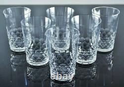 Ancienne 6 Gobelets Verres En Cristal Taille Modele Chauny Baccarat Signe