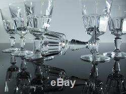 Ancienne 6 Verres En Cristal Taille Cotes Plates Baccarat Signe