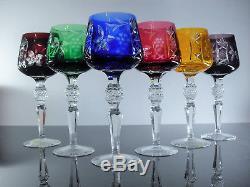 Ancienne 6 Verres Roemer A Vin En Cristal Couleur Taube Nachtmann Boheme