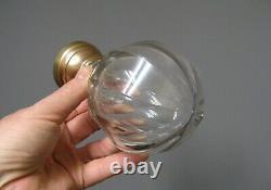 Ancienne Boule d'Escalier Cristal à Pans
