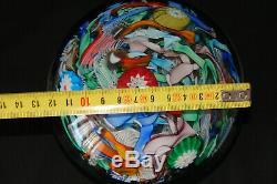 Ancienne Boule presse papier importante sulfure diamètre 12 cm