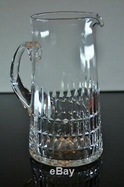 Ancienne Broc Cruche A Eau Cristal Souffle Taille Daum Signee