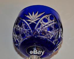 Ancienne Calice En Cristal Couleur Double Bleu Baccarat