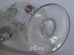 Ancienne Carafe A Liqueur Cristal De Baccarat Gold Napoleon III