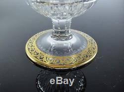Ancienne Carafe A Vin Eau En Cristal Taille Thistle St Louis Signe