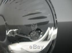 Ancienne Carafe A Vin Whisky Cristal Modelé Lorraine Baccarat Signe