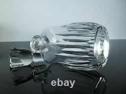 Ancienne Carafe A Whisky Cristal Taille Modelé Lorraine Baccarat Signe
