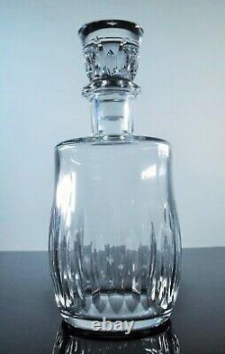 Ancienne Carafe A Whisky Vin Cristal Taille Modelé Lorraine Baccarat Signe