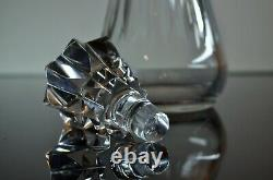 Ancienne Carafe En Cristal Masiffe Taille Modelé Piccadilly Baccarat Signee