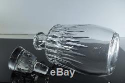 Ancienne Carafe En Cristal Massif Taille Modele Spear Baccarat Signe