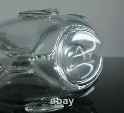 Ancienne Carafe Whisky Cognac Cristal Modelé Remy Martin Fleur Lys Baccarat