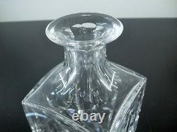 Ancienne Carafe Whisky Cristal Massif Taille Modele Manhattan St Louis Signee