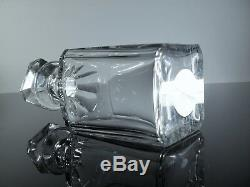 Ancienne Carafe Whisky Digestif Cristal Massif Taille Baccarat Signe