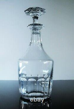 Ancienne Carafe Whisky En Cristal Massif Taille Modele Caton Baccarat Signee