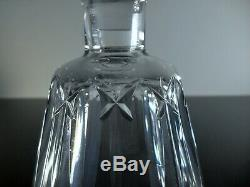 Ancienne Carafe Whisky En Cristal Massif Taille Souffle Baccarat Signe