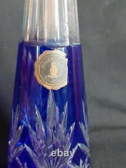 Ancienne Carafe en Cristal taillé de Saint-Louis Massenet bleu 1900-1920