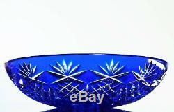 Ancienne Coupe A Fruit Saladier Cristal Couleur Taille Bohème Val St Lambert