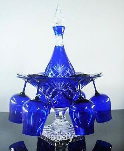 Ancienne Coupe Centre De Table Presentoir Verres Cristal Couleur Lorraine Boit