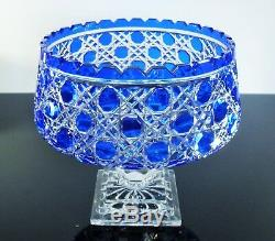 Ancienne Coupe Fruit En Pied Forme Medici Taille Pierres Diamant Baccarat 1908