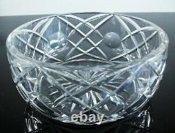 Ancienne Coupe Grand Saladier Cristal Massif Taille Diamant St Louis Signée
