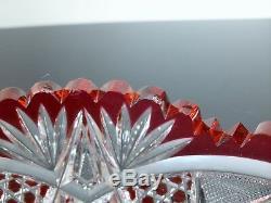 Ancienne Coupe Saladier Centre De Table Cristal Couleur Taille Baccarat