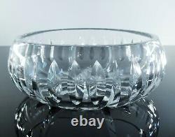 Ancienne Coupe Saladier En Cristal Massif Taille Diamant Jercey St Louis Signée