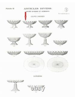 Ancienne Coupe Sur Pied Centre De Table Cristal Massif St Louis Signée 1908