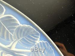 Ancienne Coupe Verre Moule Opalescent Art Déco Verlys Signe Era Etling Sabino