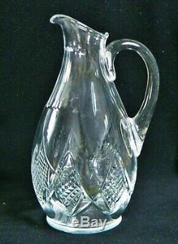 Ancienne Cruche Carafe A Eau Ou Vin En Cristal Taille Baccarat Signe