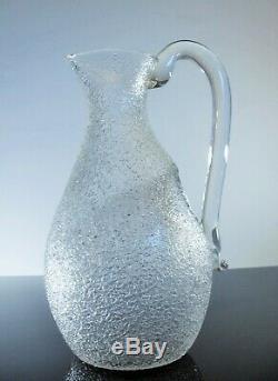 Ancienne Grand Broc A Glass Eau Cristal Dégage L'acid Modelé Baccarat 1916