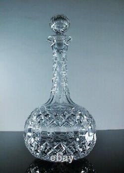 Ancienne Grand Carafe A Vin En Cristal Masif Taille Baccarat Avant 1908