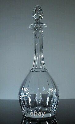 Ancienne Grand Carafe A Vin En Cristal Taille Modelé Cerdagne St Louis Signe