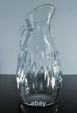 Ancienne Grand Carafe Cruche A Eau Cristal Modelé Carcassonne Baccarat Signe