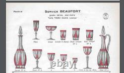 Ancienne Grand Carafe En Cristal Double Couleur Modele Beaufort St Louis 1930