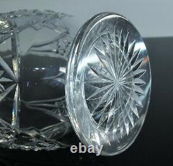 Ancienne Grand Carafe En Cristal Taille Modelé Epiron Baccarat Avant 1936