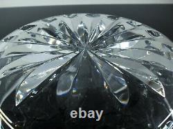 Ancienne Grand Coupe Saladier Cristal Masif Taille Diamant St Louis Signée