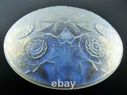 Ancienne Grand Coupe Verre Moule Opalecent Art Deco Etling Sabino Ezan Verlys