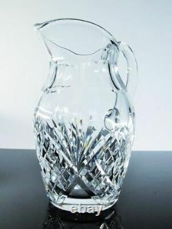 Ancienne Grand Cruche Carafe A Eau Vin Cristal Taille Chantilly St Louis Signe