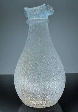 Ancienne Grand Cruche Glass A Eau Cristal Dégage L'acid Modelé Baccarat 1916