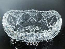 Ancienne Grand Jardiniere Coupe Cristal Taille Grave Catalogue 30 St Louis Signe