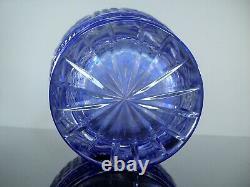 Ancienne Grand Vase Cristal Couleur Bleu Massif Taille Baccarat St Louis Vsl