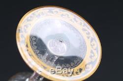 Ancienne Grand Verre Cristal St Louis Thistle Or Parfait Etat Signe