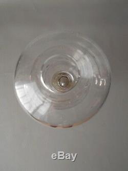 Ancienne Lampe De Brodeuse Provencale En Verre Souffle