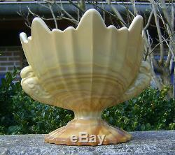 Ancienne Opaline De Foire Marbree Jaspee Grande Coupe Aux Oiseaux N2819