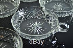 Ancienne Service A Desserte Glas 5 Coupes Cristal Taille Baccarat Avant 1936