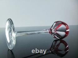 Ancienne Service Digestif 6 Verres Cristal Couleur Modele Joseph St Louis Signee